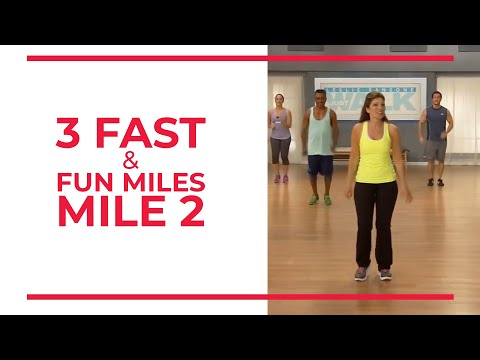 3 Fast & Fun Miles Mile 2  Walk At Home Fitness Videos