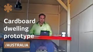 Diy Cardboard House With Paper Sink Is Off-grid In Australia