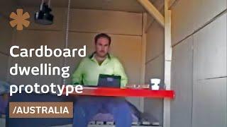 Diy Cardboard House With Paper Sink Is Off-grid In Australia