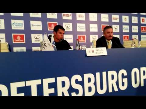 St. Petersburg Open2016 – пресс Милоша Раонича (1)