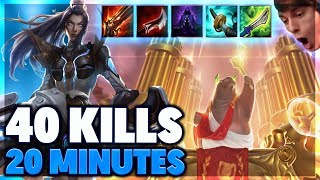 FASTEST 40 KILLS IN HISTORY | URF CAITLYN FULL GAMEPLAY - BunnyFuFuu