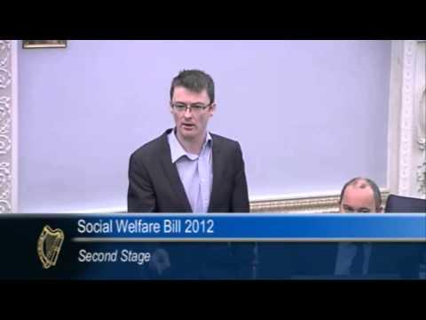 Senator David Cullinane confronts Joan Burton over Social Welfare cuts