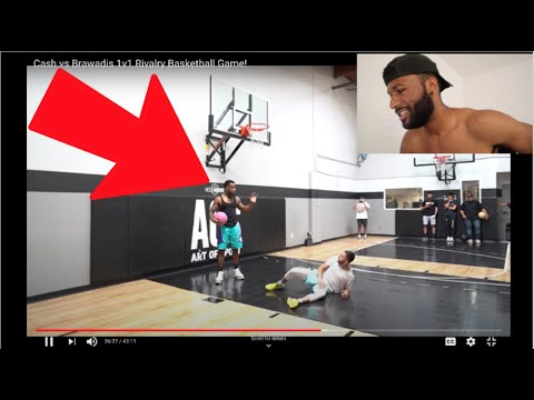 NEW YORKER REACTS TO Cash vs Brawadis 1v1 Rivalry Basketball Game!