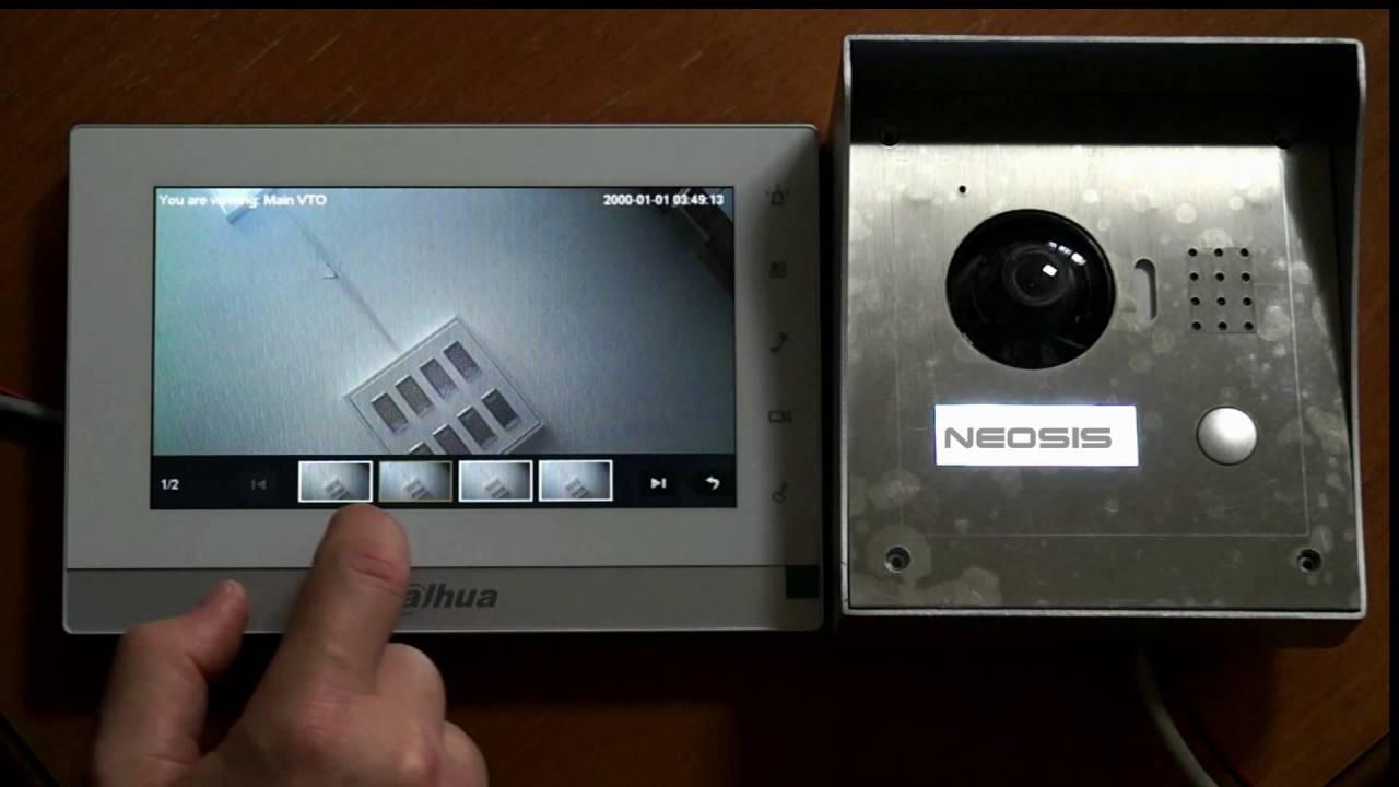 Videointerfon IP DAHUA VTH1550CH  VTO2000A  Neosisro