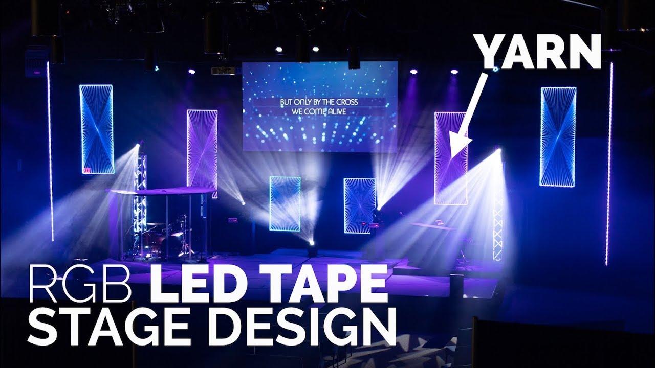 Led Tape Church Stage Design Yarn Panels