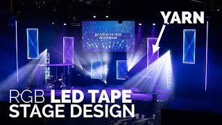 LED Tape Church Stage Design | Yarn LED Panels