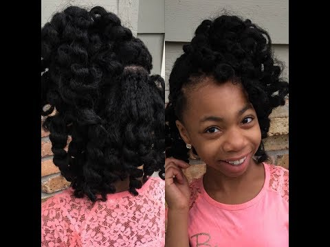 Kids Curly Crochet Half Up Half Down Hair How To Tutorial Youtube