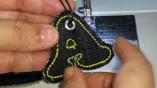 Pingente/chaveiro/TAG feito na máquina doméstica (Ateliê Vida Minha)