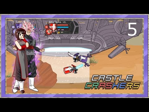 Rosé Goku Black & Chi-Chi Black Play Castle Crashers Episode 5: Part 1 - Aliens What?!