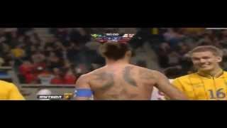 zlatan ibrahimovic video goal sweden vs england 4 2 goal pazzesco in rovesciata da 25 metri