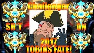 Tobias Fate FINALLY GOT CHALLENGER! ft. Dyrus - Nightblue3 2017!