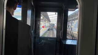 特急列車連結!前面車窓:JR宇多津駅