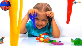 ✔ Фиксики и девочка Ярослава учат цвета вместе с Лизунами в Фиксилаборатории. Игрушки для детей ✔