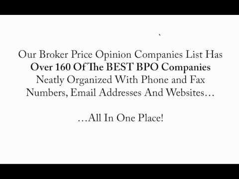 Broker Price Opinion Companies List