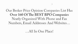 Broker Price Opinion Companies List