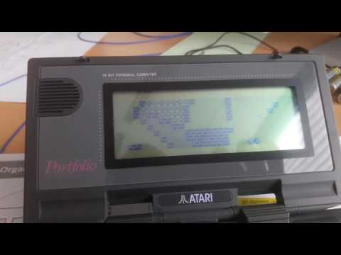 Atari Portfolio, Folidash in action!