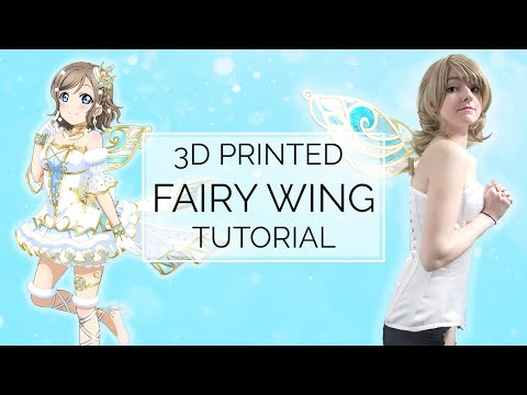 Love Live! Sunshine DIY 3D Modeled & Printed Fairy Wing Tutorial | Porzellan