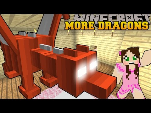 Minecraft: MORE DRAGONS (RIDE AMAZING DRAGONS!) Custom Command