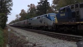 [HD] Amtrak P092-08 Rescue Train 20+ Hours late with CSX D8-40CW Pair leading; November 10, 2015