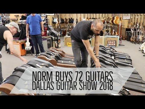 Norm buys 72 Guitars at the Dallas Guitar Show 2018 | Norman's Rare Guitars