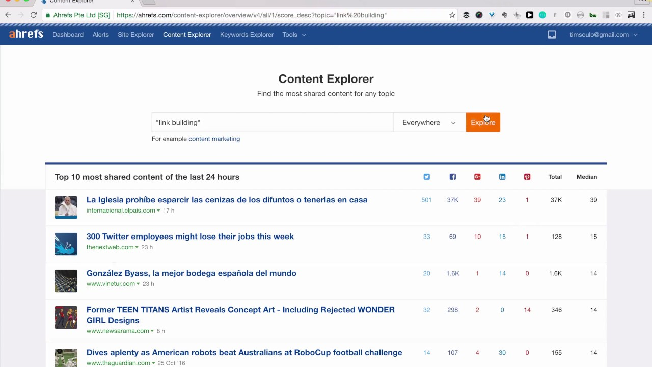 Content Explorer Tips for Topic Research, Guest Blogging, and Link Building
