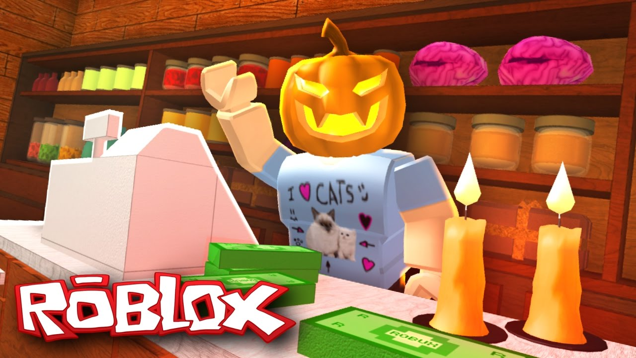 roblox halloween retail tycoon opening a halloween store youtube