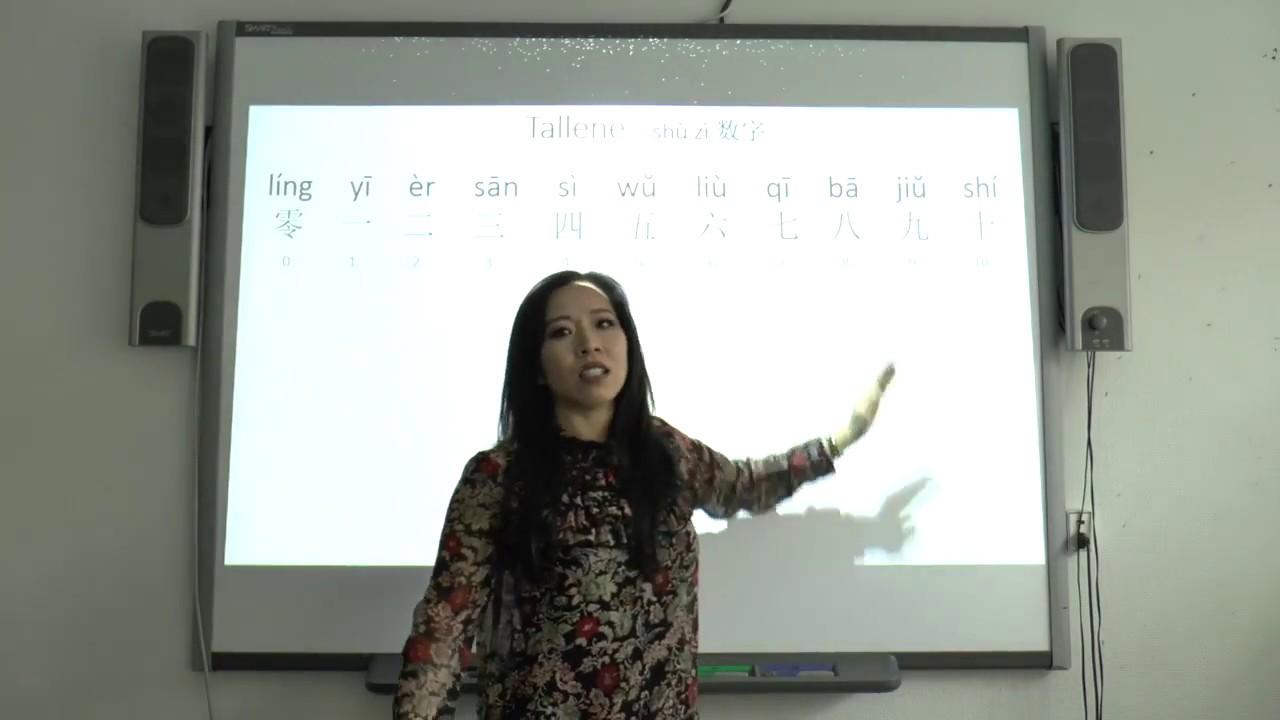 Lær kinesisk med Renmei. Tallene - shù zì 数字