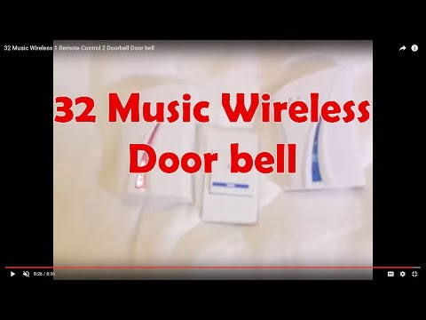 32 Music Wireless 1 Remote Control 2 Doorbell Door bell