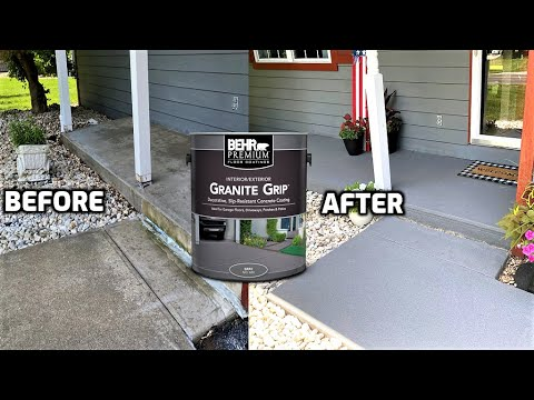 """Review of the Behr Concrete Paint """"Granite Grip"""""""