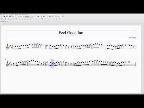 Feel Good Inc. for Alto/Bari Sax Sheet Music