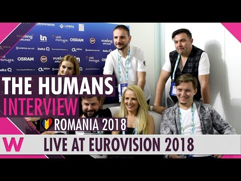 The Humans (Romania) interview @ Eurovision 2018 | wiwibloggs
