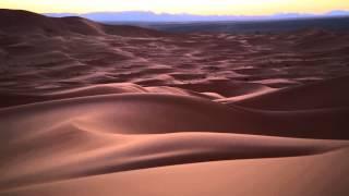 Сахара,Марокко,закат в пустыне.