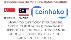 UPDATED How to Buy Bitcoin Ethereum with COINHAKO in Singapore Malaysia Exchange Part 1
