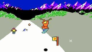 Slalom (NES) Playthrough - NintendoComplete