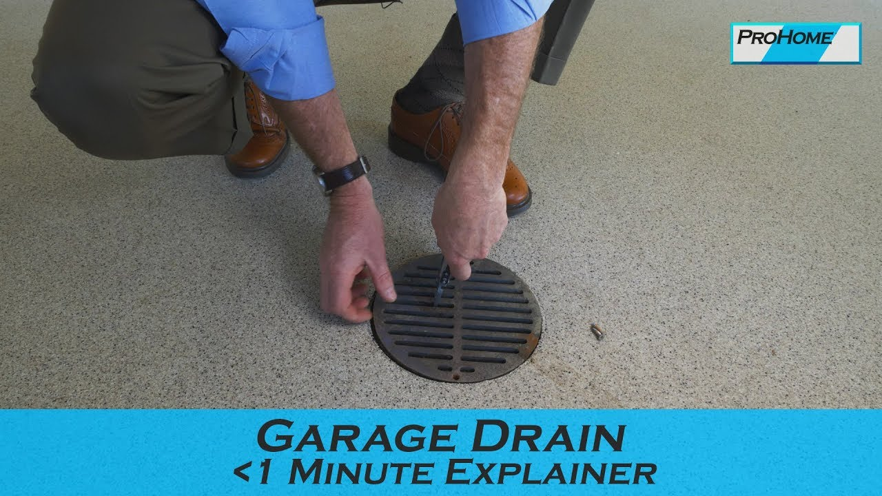 How To Clean Your Garage Drains You