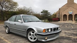 BMW E34 540i M Sport Muffler Delete / Exhaust Sound V8