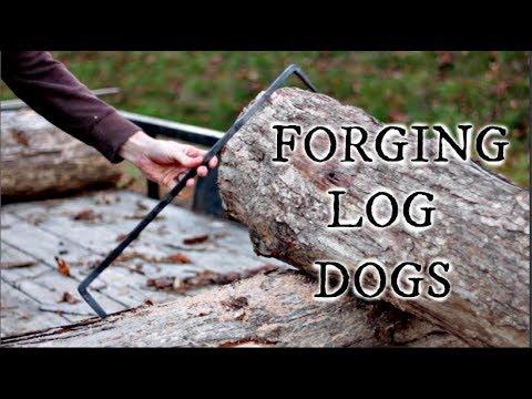 FORGING LOG DOGS FOR THE HOMESTEAD