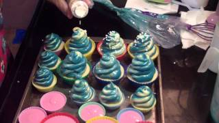 Making Blueberry Cheescake and Pure Baby Grace Cupcake Soaps