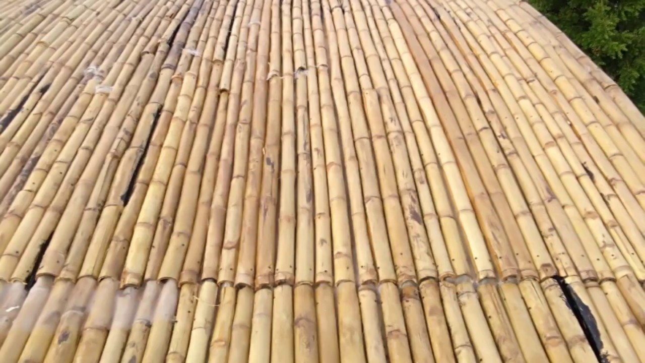 Bamboo roof india youtube for Bamboo roofing materials