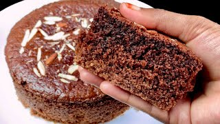 Eggless Rava Chocolate Cake