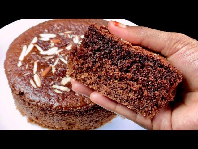 முட்டை இல்லாமல் ரவை வைத்து பஞ்சு போல சாக்லேட் கேக் | Eggless Rava Chocolate Cake | How To Make Cake