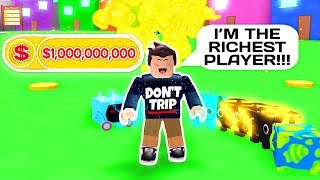 I'M THE RICHEST PLAYER IN ROBLOX PET SIMULATOR!