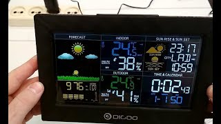 Метеостанция Digoo DG-TH8988 , обзор, рекомендации.