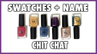 KL POLISH 2018 FALL COLLECTION SWATCHES