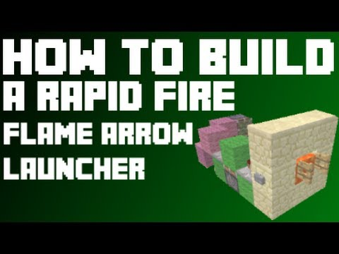 How to build a rapid fire arrow shooter in minecraft