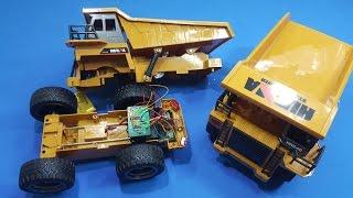 Bung Xe Tải ben Huina Toys - Xem kết cấu nâng ben đơn giản