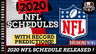 The 2020 nfl schedule has released! we now know some of best match ups year. in this episode fantasy headliners kyle will be breaking d...