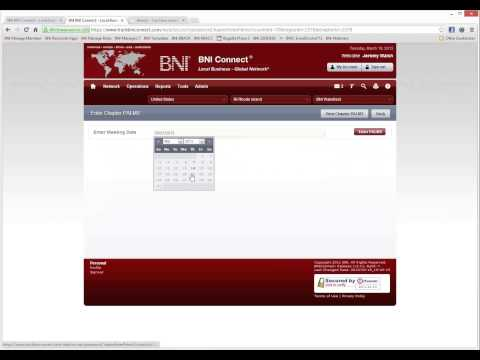 BNI Connect - Online Slips and Referral Tracking! (UAE Session 1, March 19th 2013)