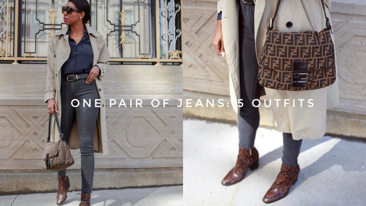 [VIDEO] - One Pair Of Jeans: 5 Easy, Chic Outfits For Spring | Mott & Bow Review 8