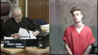 Repeat youtube video Justin Bieber in court